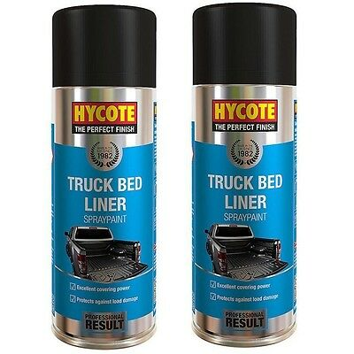 2 x Hycote Truck Bed Liner Spray Paint Black 400ml