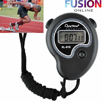 Digital Handheld Stopwatch Stop Watch Timer Clock Alarm Counter Sports Timing