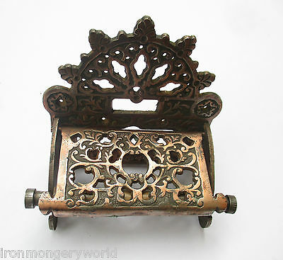 Cast iron vintage Ornate Antique Victorian old style Toilet Roll Holder
