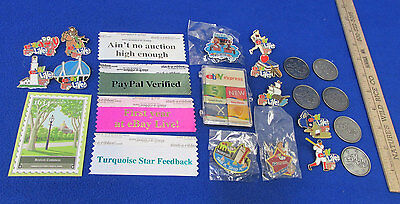 Ebay Express Magnet Live Pins Ribbons Boston Coin Set Postage Stamp  Lot of 24