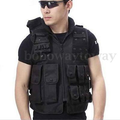 Airsoft Paintball Wargame Tactical Outdoor SWAT Molle Combat Assault Vest Black