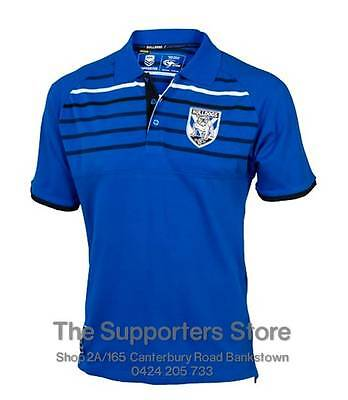 Canterbury Bankstown Bulldogs 2016 NRL Knitted Polo Shirt Size S-5XL! BNWT's!