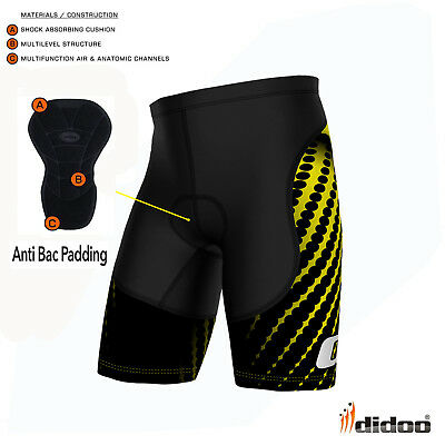 Mens Padded Cycling Shorts Compression Running Fitness Sports Boxers Tight Pants