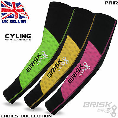 Ladies Cycling Compression Arm Sleeve Elbow Warmers Biking Thermal Outdoor