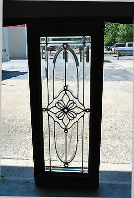 Fully Beveled American Glass Sidelight with Jewels
