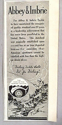 Abbey & Imbrie Fishing Tackle PRINT AD - 1918