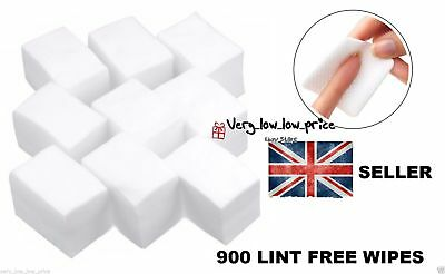 1 or 900x LINT FREE SOFT NAIL WIPES ART GEL ACRYLIC POLISH REMOVER MANICURE