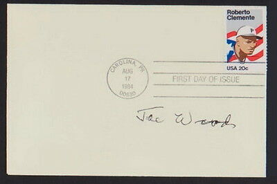 Smokey Joe Wood Signed Roberto Clemente '84 Stamp First Day Issue Cover Envelope