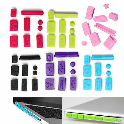 "New Silicone Anti Dust Plug Ports Cover Set For Macbook 15"" air 11"" 13"" Retina X"
