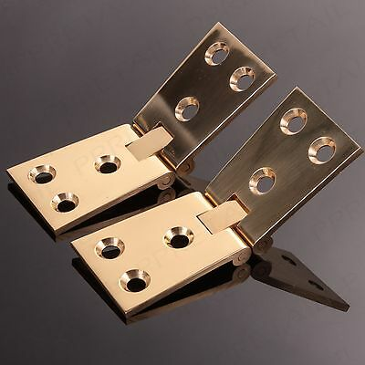 HEAVY DUTY SOLID BRASS COUNTERFLAP HINGE Pair 32mm Tapered Bar/Pub Counter Flap