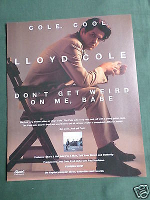 Lloyd Cole - Magazine Clipping / Cutting- 1 Page Advert - #2