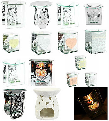 Glass Fragrance Oil Burner & Tealight Holder Yankee Candle Wax Melt Tart Warmer