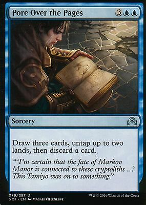 4x Pore Over the Pages   NM/M   Shadows over Innistrad   Magic MTG