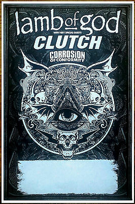 LAMB OF GOD | CLUTCH | CORROSION OF CONFORMITY 2016 Tour Ltd Ed New RARE Poster!