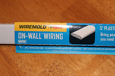 NEW – Wiremold On-Wall Wiring NMW1 – 5' Plastic Channel – White – Wiring System
