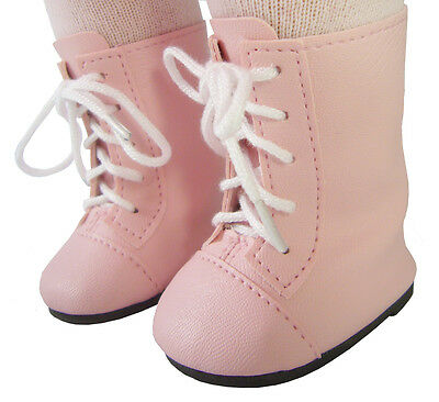 """Doll Clothes fits 18"""" American Girl Victorian Era Style Pink 1800 Boots Samantha"""
