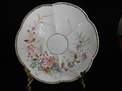 Set 5 X Victorian Fine Bone China Hand Painted And Decorated Saucers