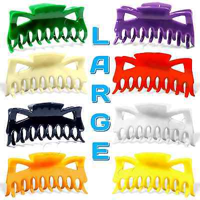 "Hair Claw Clip Large Size 4.5"" Plastic Butterfly Clips Choose Color B3G1 FREE"