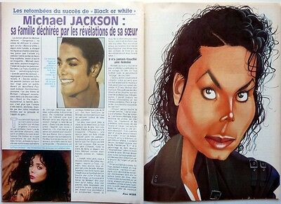 MICHAEL JACKSON => 2 pages 1992  funny FRENCH CLIPPING / FREE SHIPPING !!!