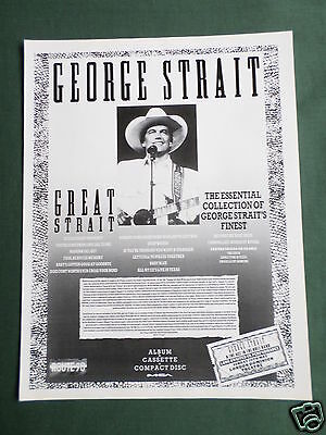 George Strait - Magazine Clipping / Cutting- 1 Page Advert