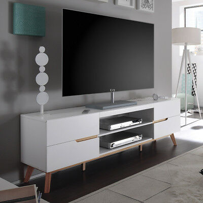 tv rack alimos tv board lowboard unterschrank wei matt. Black Bedroom Furniture Sets. Home Design Ideas