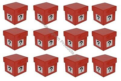 12 x 5cm Mystery Gift Box Question Mark Similar to Deal or No Deal Present