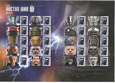 LS85 2013 Doctor Who Royal Mail Generic Smilers Sheet