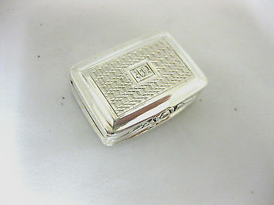 Antique Solid Silver  Vinaigrette   Hallmarked :- Birmingham 1824
