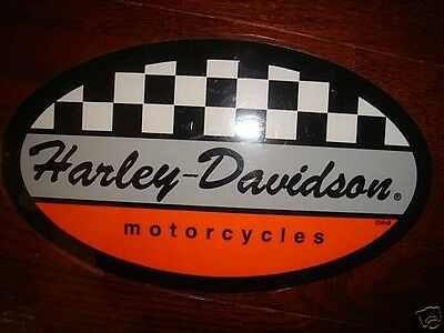 """Harley Davidson Racing Checkers Decal Sticker 3.7"""" X 2.2"""" (Inside)New"""