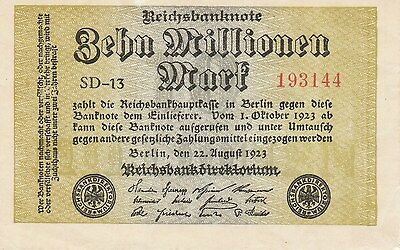 Germany P106, 10 Million Marks, Reicksbank, 1923, UNC