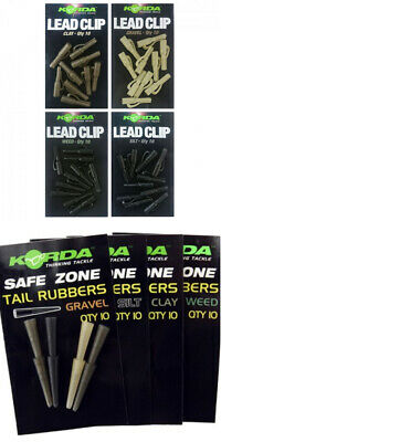 Korda - Tail Rubbers And Lead Clips - All The Colours