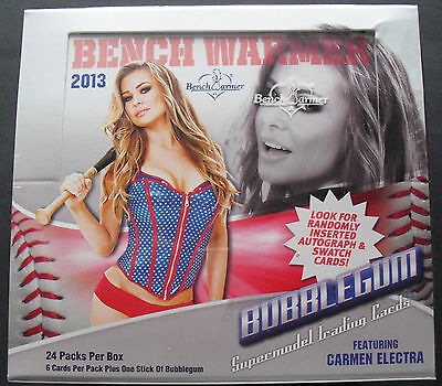 2013 Benchwarmer Bubblegum Hobby Box 2013 Sexy Girls 3 Autographs p Box