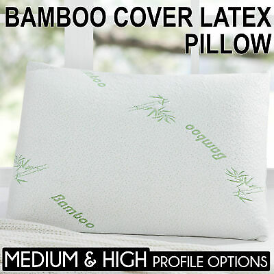 Superior Natural Bamboo Latex Pillow 60 x 40cm High, Medium and Contour