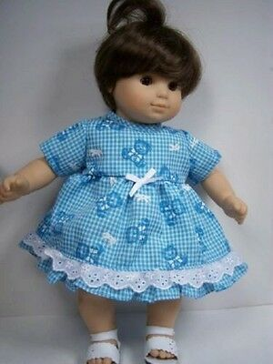 NAVY BLUE Polka Dot SailBoat Dress Doll Clothes For Bitty Baby Girl Twin Debs