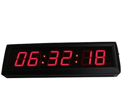 1.8'' Large Digital Countdown Wall Clock Count Down/Up In Hours Minutes Seconds