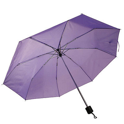 "COSTWAY Folding Rain 42"" Umbrella Portable Compact W/Sleeve Purple New"