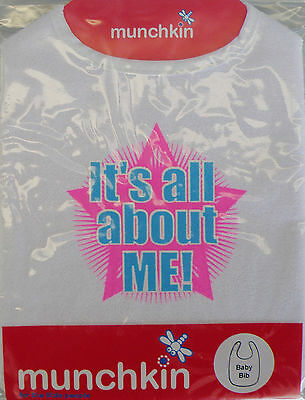 Munchkin Baby Bib - It's All About Me   *New*