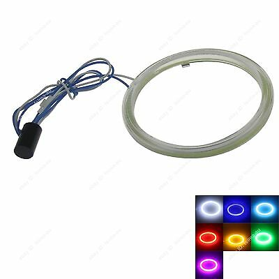 1pc 95mm Angel Eyes Halo Ring COB Light LED DRL With Cover For Car Headlights
