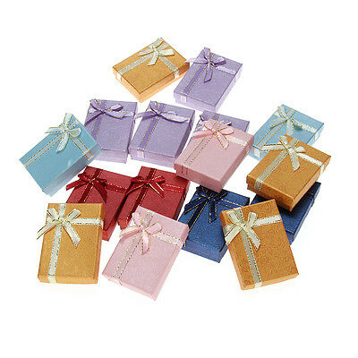 Jewelry Box Case for Rings,Earrings Multi Colors Gift Boxes 16 Pcs/set Wholesale