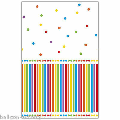 "54""x84"" Rainbow Colours Children's Birthday Party Plastic Table Cover"