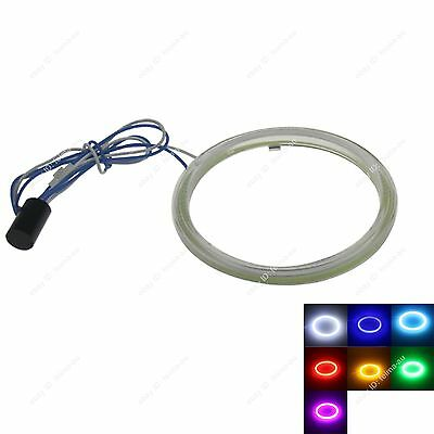 75MM LED COB Chip SMD Car Angel Eyes Headlight Bright Halo Ring Light with Cover