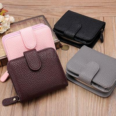 Lady Women Purse Clutch Wallet Small Bag PU Leather Coin Card Holder Handbag
