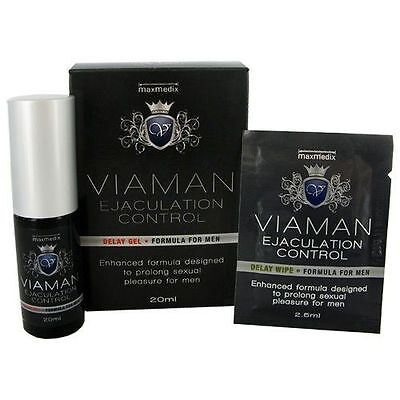 Viaman Gel Retardant l'éjaculation Delay Gel + 1 Lingette