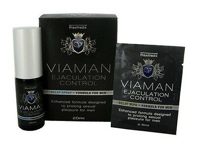 Viaman Spray Retardant l'éjaculation Delay Spray + 1 Lingette