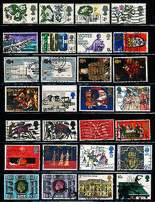 C582  Gb Collection Of 28 Elizabethan Commemorative Used Stamps