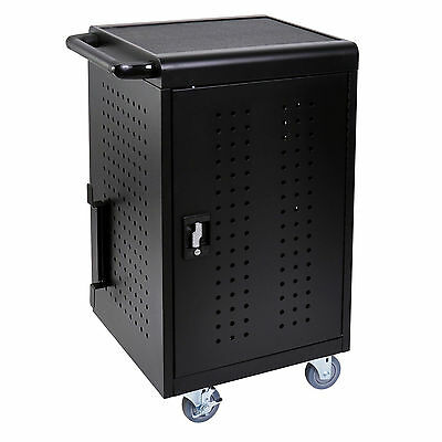 Luxor Tablet / Chromebook Charging Cart, Capacity 30 Tablets, Black LLTM30-B New