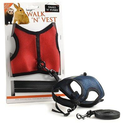 Walk n Vest & Leash for ferrets, rabbits and cats