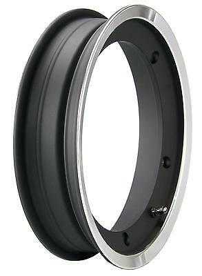 Vespa PX T5 LML 2.10 x 10 SIP Black & Polished Edge Tubeless Wheel Rim