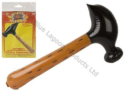 """34""""/86cm Inflatable Blow Up Claw Hammer Beach Party Fancy Dress Fun Toy Hen Stag"""