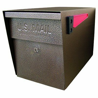 Mail Boss 7108 Curbside Security Locking Mailbox Bronze